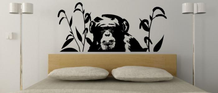 Affe Wandtattoo Schimpanse
