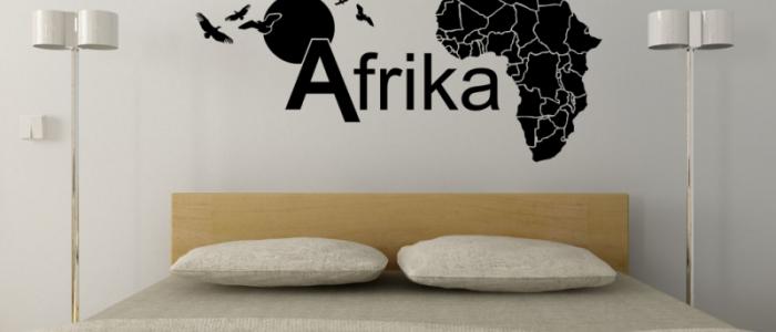 Wandtattoo Kontinent Afrika