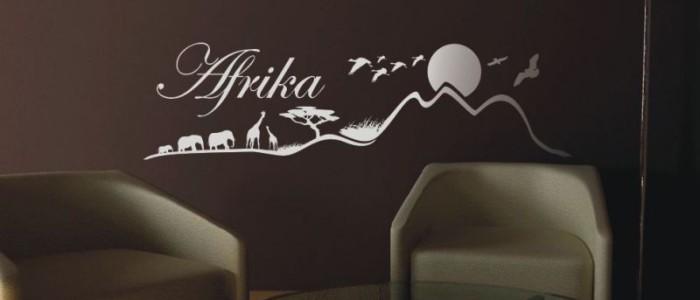 Savanne Afrika Schriftzug